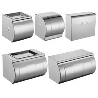 North European 304 stainless steel hand carton tissue box roll holder paper towel holder bathroom toilet rack