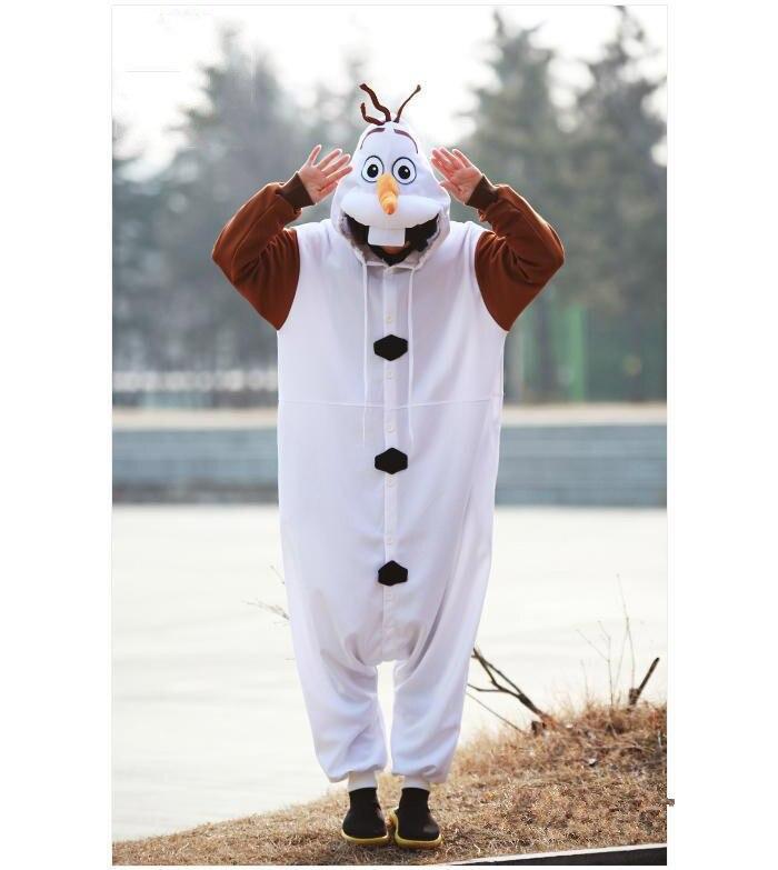 Olaf Cosplay kostiumas suaugusiųjų Oniesie pižama, pagaminta iš - Karnavaliniai kostiumai - Nuotrauka 4