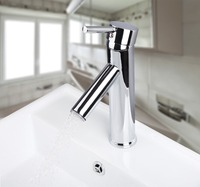 OUBONI Brand New Polished Chrome Faucet Basin Sink Water Tap Torneira 8051B Single Lever Hole Deck