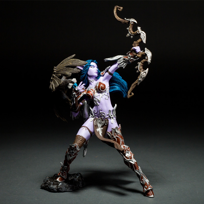 Night Elf Hunter Alathena Moonbreeze Sorna Figure wow collection model toy