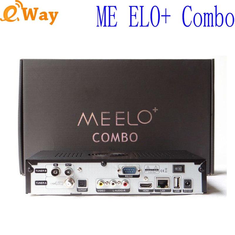 ME ELO + Combo récepteur TV Satellite 1200 MHz double processeur DMIPS 4 GB Flash 1 GB DDR3 DVB S2 + DVB T2/C lecteur multimédia 1080 p-in Récepteur de télévision par satellite from Electronique    1