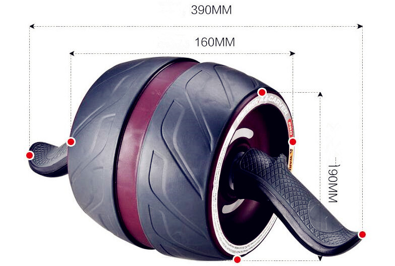 2018 versión mejorada sin ruido Ab rueda redonda AB rodillos para entrenador central cintura brazo fuerza ejercicio gimnasio Fitness en equipo de casa - 2