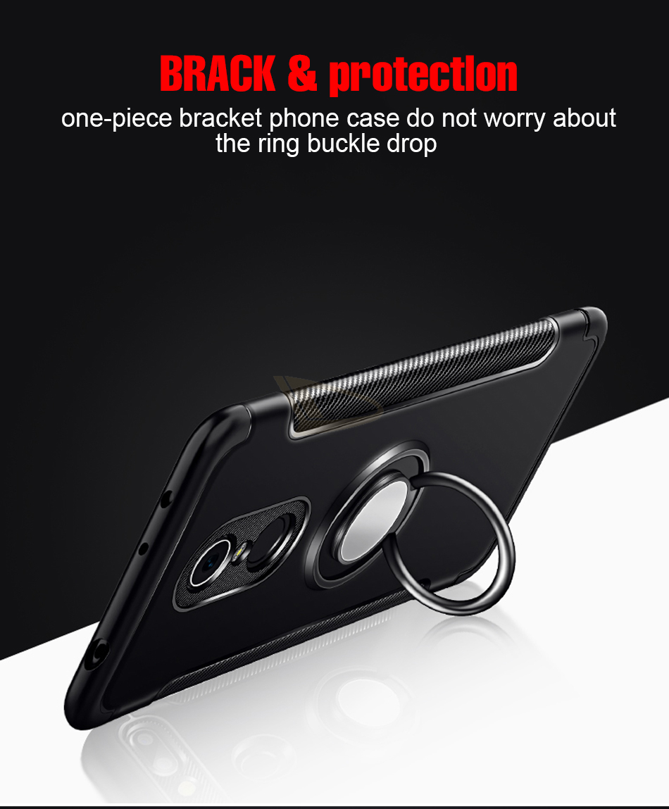 HTB1u9lXdjfguuRjy1zeq6z0KFXaK Luxury Soft Shockproof Case For Xiaomi Redmi 4X Note 4 4X Full Cover For Redmi 5 PLus Note 7 Pro 6 6A Hard PC Bracket Ring Cases