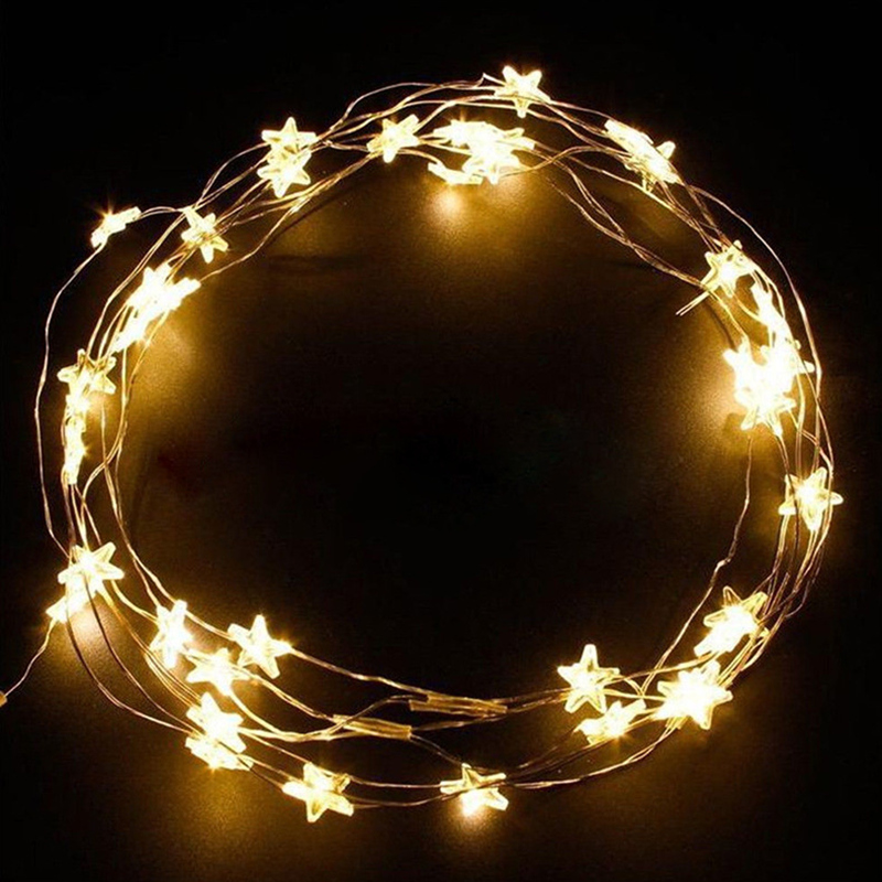 3M String Light Battery Operated Holiday Fairy Lights For Garland Christmas Home Party Wedding Decoration Rabbit Star Flower New