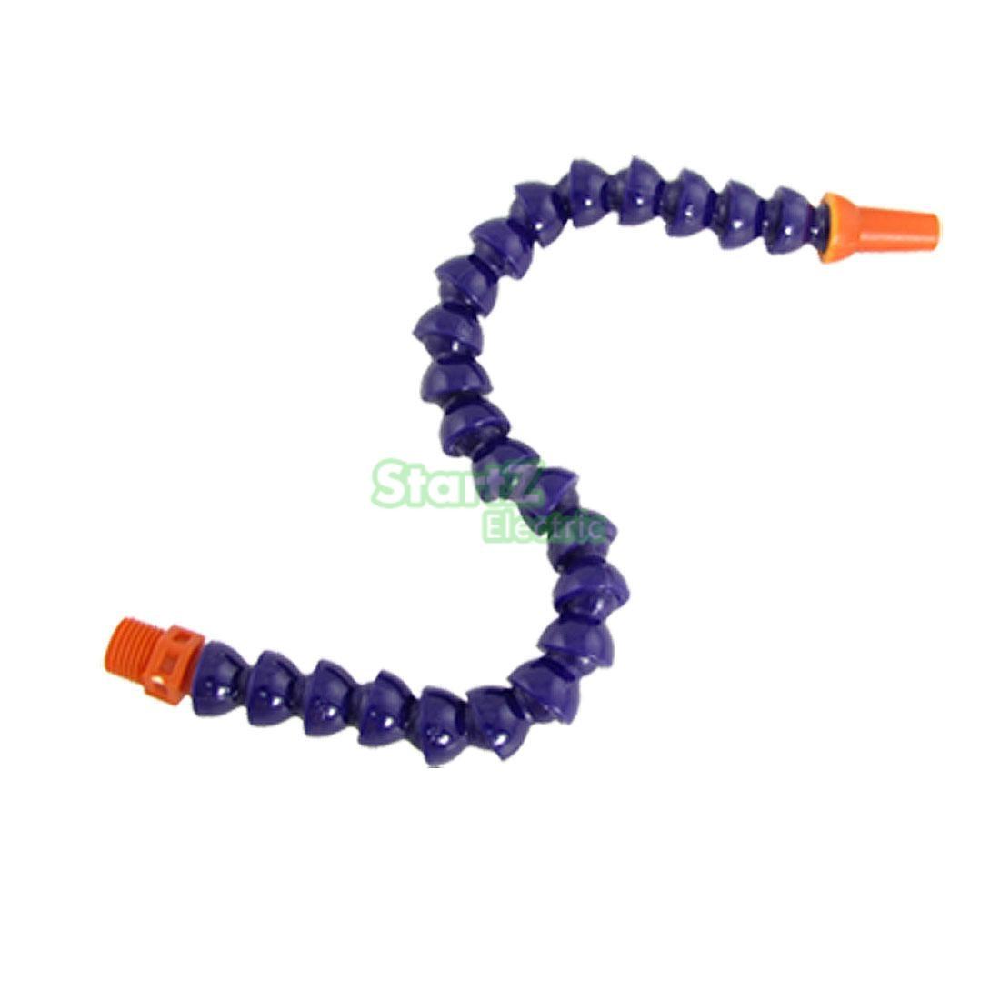 1/4 Round Nozzle Coolant Oil Hose Purple for Lathe Milling 1 pc 1 4 30cm round nozzle adjustable flexible water oil coolant pipe hose switch