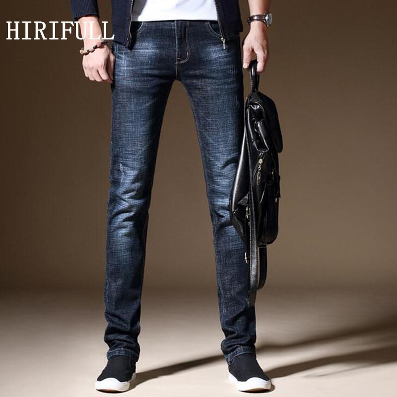 28-38 Big Size Brand Men Jeans Stretch Fashion Denim Business Slim Fit Jeans Straight Pants Casual Denim Trousers Spring Autumn