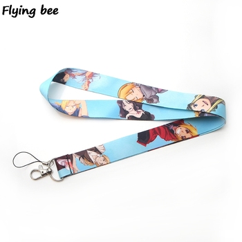 Flyingbee Lanyard Badge ID Lanyards Mobile Phone Rope keychain Key Lanyard Neck Straps Accessories X0122 dmlsky kiki s delivery service lanyard keychain anime lanyards for keys badge id mobile phone rope neck straps gifts m3865