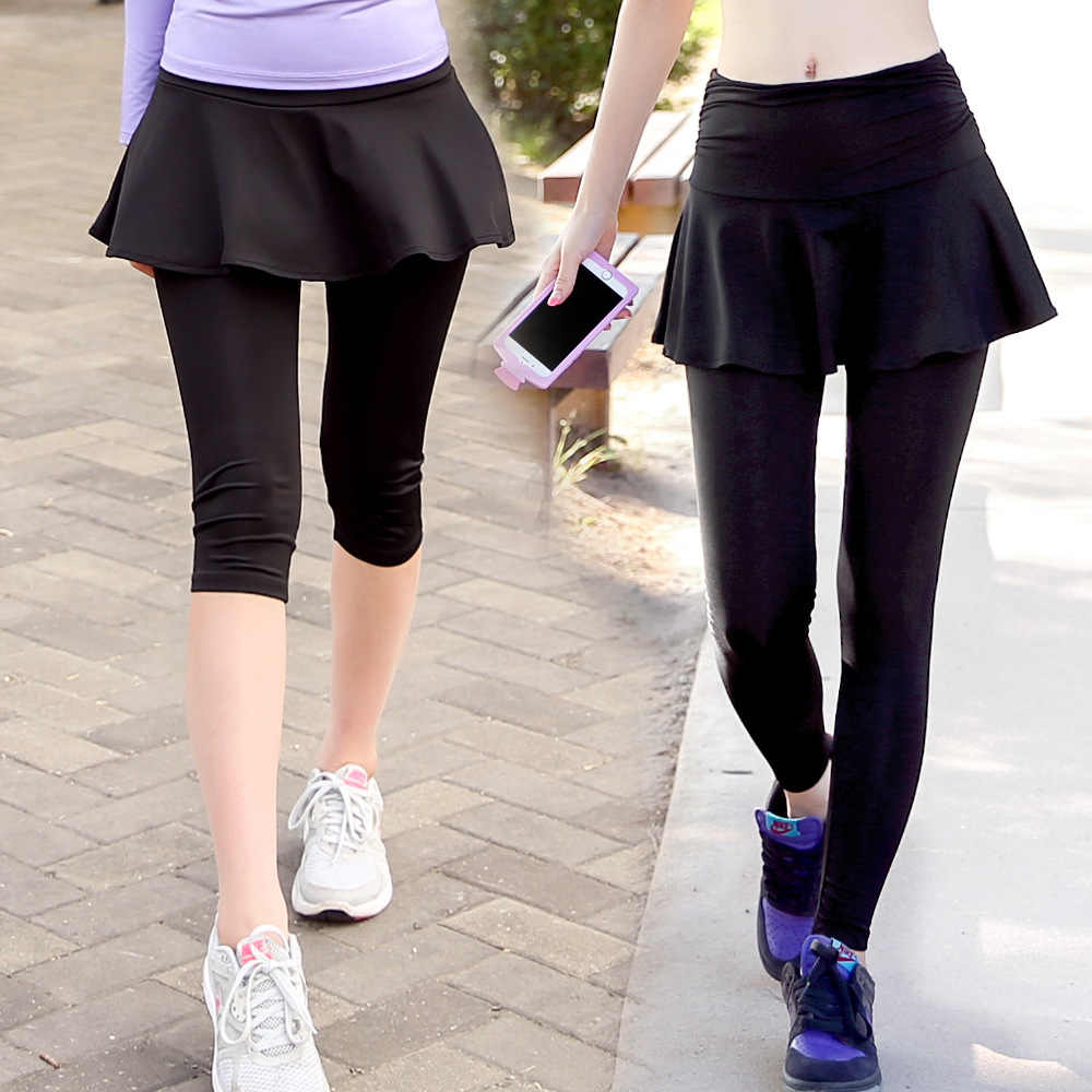 Women Running Compression Tights Hips Fake Two Pieces Fitness Ankle Length Girls Black Pants Female Quick Dry Elastic Trousers Running Trousers Women Running Tights Womentights Running Women Aliexpress