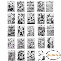 24PCS Disegno Pittura Stencil Bilancia Modello di Set di 10X7 pollici, di plastica Forme Scrapbook Stencil Grafiche Stencil per I Bambini