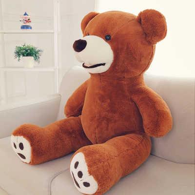 Mooie beer knuffel grote 120 cm beer zachte sierkussen, kerst verjaardagscadeau F019