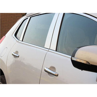 lsrtw2017 304 stainless steel car window trims for peugeot 3008 2009 2010 2011 2012 2013 2014 2015 2016 1st generation
