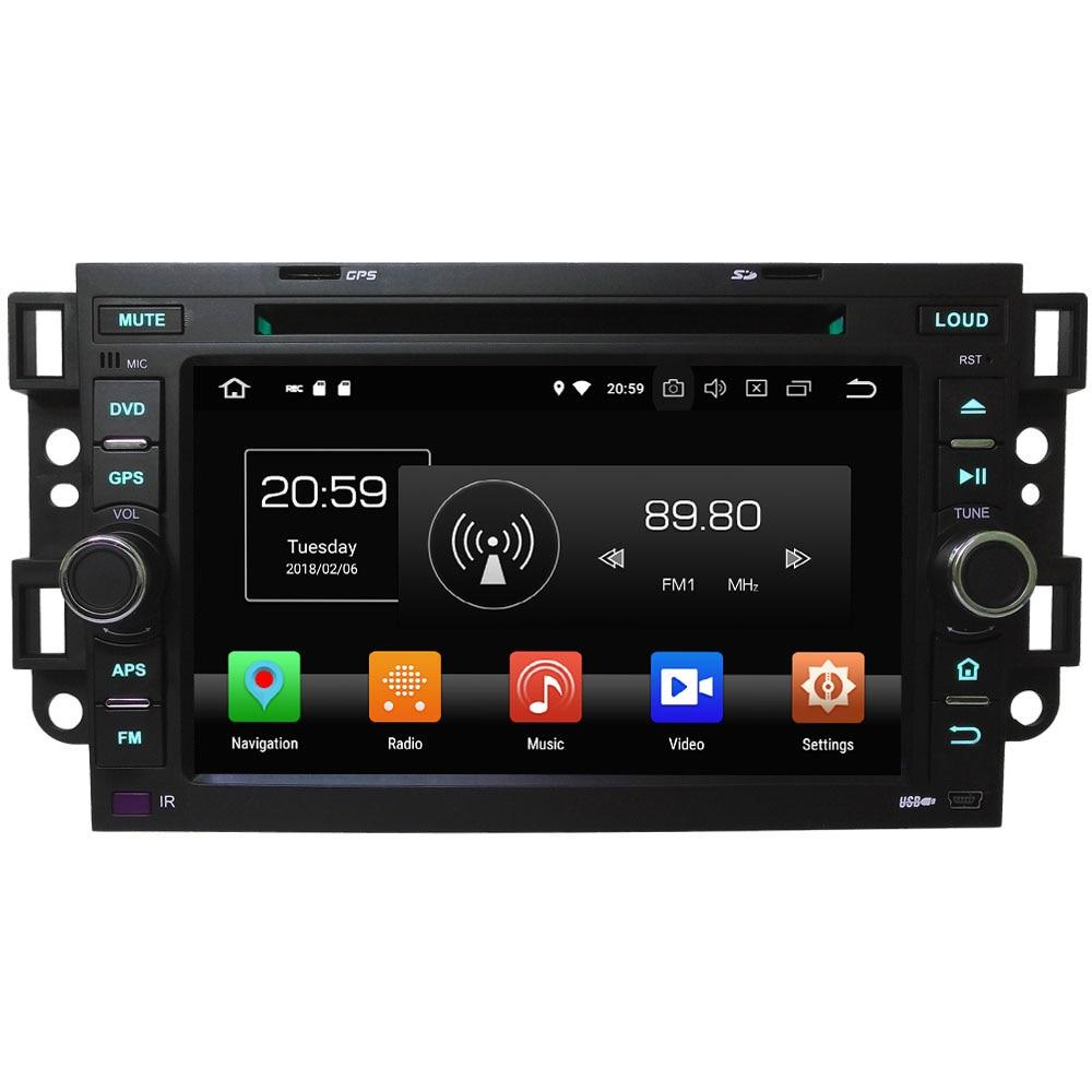 4G WIFI Android 8.0 Octa core 4 GB RAM 32 GB ROM lecteur DVD de voiture multimédia pour Chevrolet Epica Aveo Optra Captiva Spark Matiz