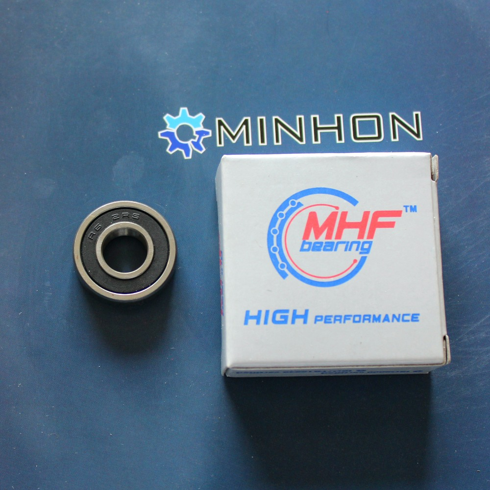 Free Shipping MHF 10PCS R6-2RS Miniature Flanged Ball Bearings Inch Size 3/8