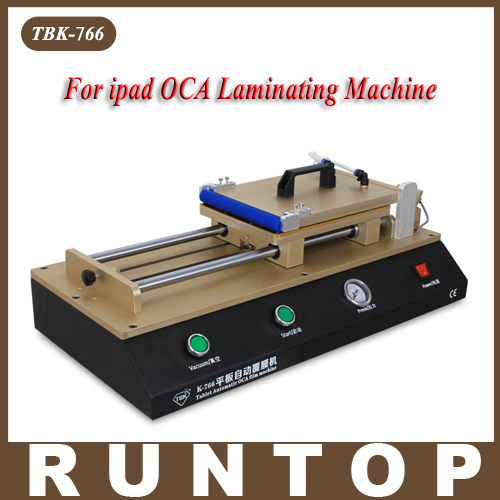 TBK-766 12  Tablet Automatic OCA Laminating Machine  OCA Polarizer Film Laminator Machine for LCD Repair need air compressor
