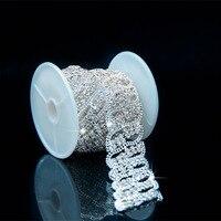 1 Yard Fashion Crystal Glass Rhinestone Tassels Chain Costume Trim Sewing Applique