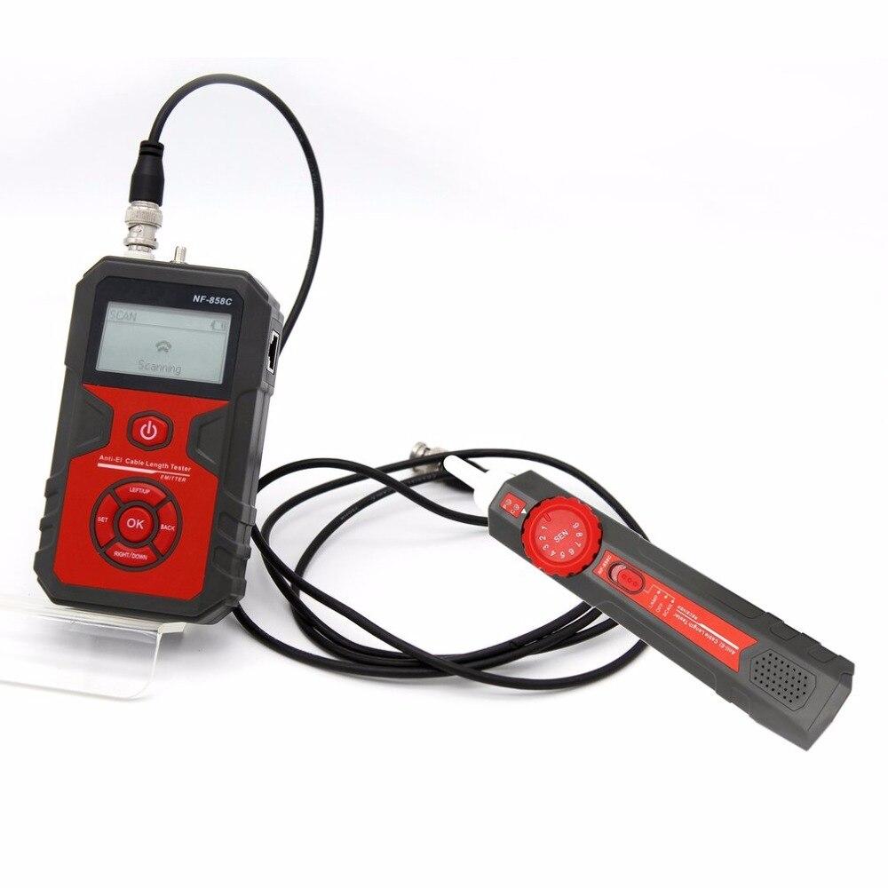 Localisateur de ligne de câble de NF-858 détecteur de câble de traqueur de fil portatif pour l'essai de câble de réseau ligne de câble de RJ11 RJ45 BNC - 4