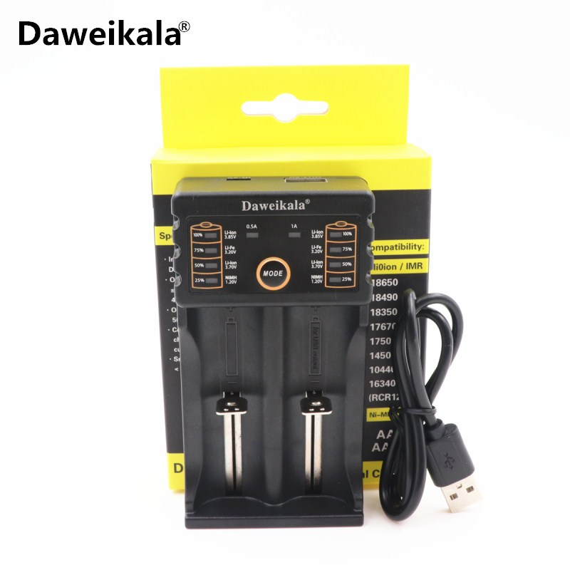 DaweiKala DAA-201 USB Intelligent Battery Charger with Power Bank Function for Ni-MH Lithium for 18650 26650 18350 14500