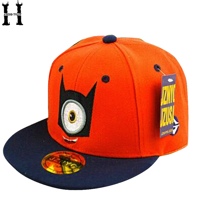 f65362e0c0d HATGUD TYLZT New Canvas Despicable Me Children Baseball Caps Minions Boys  Girls  Hip Hop Hats Outdoor Kid Hat Fit For 3-8 Years