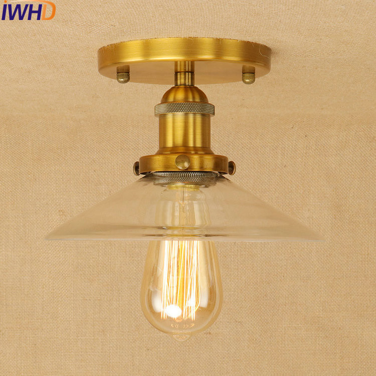 RH Loft Style LED Ceiling Lights Iron Industrial Vintage Ceiling Lamp Retro Fixtures For Home Lighting Bar Lamparas De Techo цена
