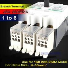3 шт/лот от 1 до 6 веток выключатель клеммный блок для 250a