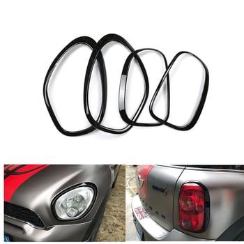 for Countryman R60 Mini Headlight Head Tail Rear Lamps Shell Trim Ring Cover Decor StickerFor MINI Countryman R60 Accessories vision r60
