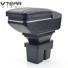 Vtear для Honda City подлокотник коробка из искусственной кожи центральный магазин содержание коробка подстаканник интерьер автомобиля-Стайлинг продукты аксессуары 06-09