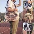 Cão cachorrinho Sacos de Imitação de Couro de Ombro Único Saco Bolsa Linda feminino Tamanho Grande Cão Bonito Anime Bolsa 3D Mulheres Sling sacos