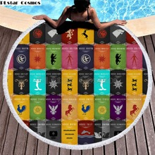 Game of Thrones Blanket  Women Bath Towel for Beach Thick Round 3d print Fabric Quick Compressed new style-7