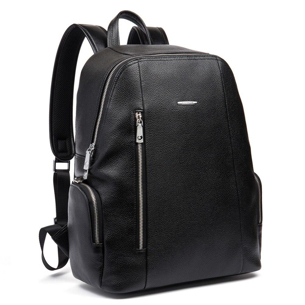 BOSTANTEN sacs à dos en cuir véritable pour hommes Bolsa Mochila pour ordinateur portable ordinateur portable sacs hommes d'affaires style sac à dos sac à dos