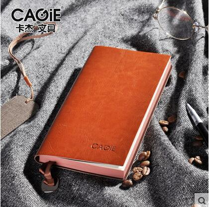 CAGIE Vintage Leather Notebook a5 b5 Filofax Daily Planner a6 Small Office Supplies Dotted Lined Notebook Pocket Agenda Diary notebook filofax mini