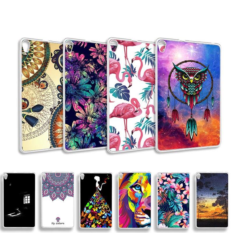 Akabeila DIY Patterned Tablets Case For Lenovo Tab 3 8 Plus