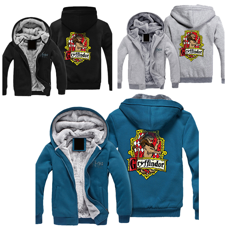 Wellcomics Harri Potter Gryffondor Serpentard Symbole Veste hip hop À Capuche Sweat À Capuche Zipper Manteau Chaud costume cosplay Nouveau