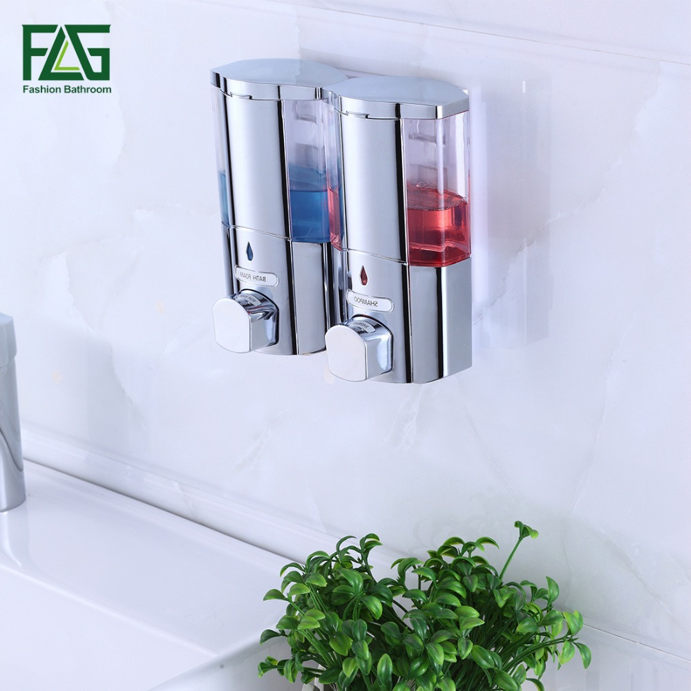 FLG 300*2ml Liquid Soap Dispenser Wall Mounted Shampooing Soap Dispensers High Quality Manually Hotel Soap Dispenser P115-02C