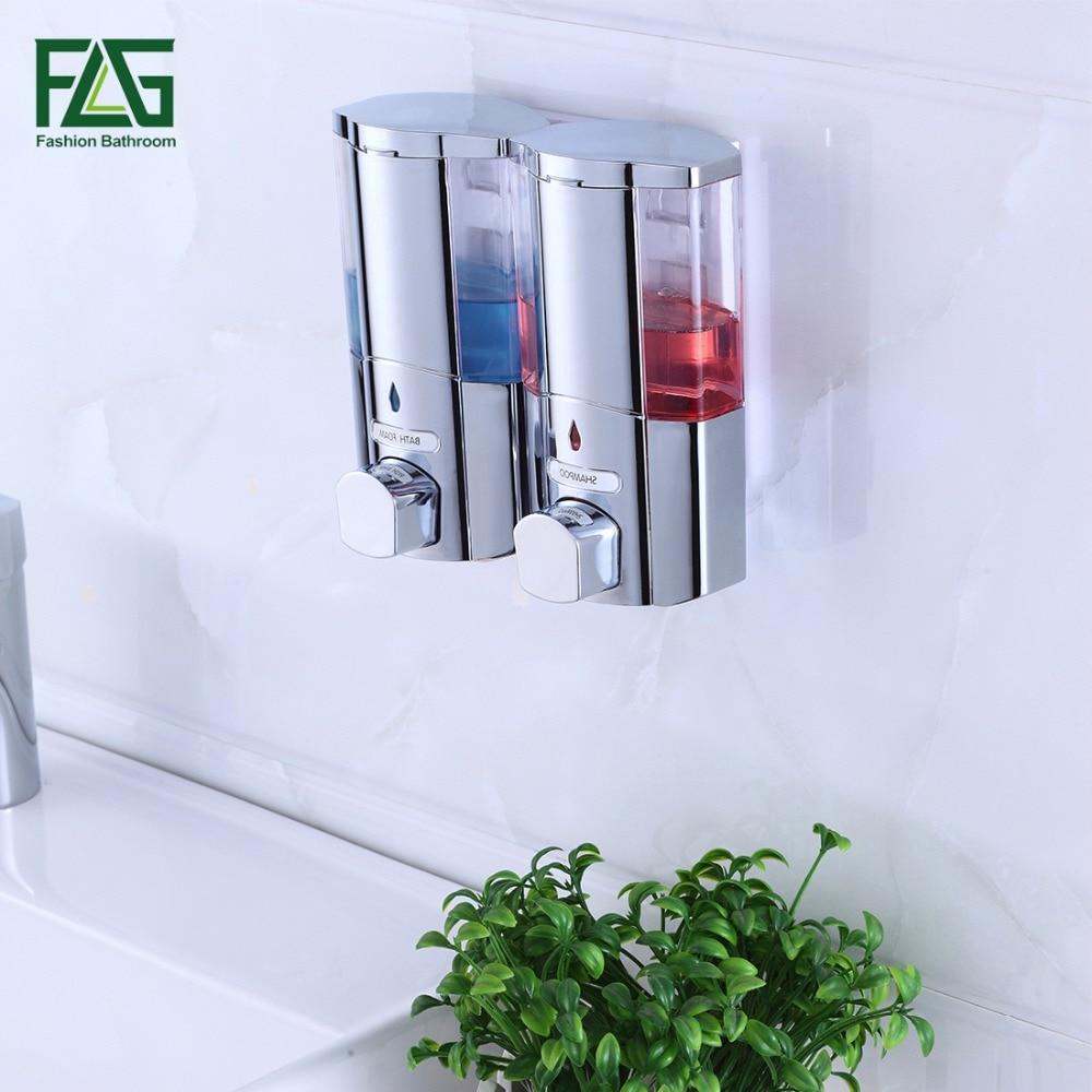 okpd 2 dávkovač tekutého mýdla - FLG 300*2ml Liquid Soap Dispenser Wall Mounted Shampooing Soap Dispensers High Quality Manually Hotel Soap Dispenser P115-02C