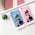 Sailormoon dedo stander case para iphone 6 s 6 plus 6 splus 6 contraportada suave cat sticker gel tpu shell cases envío gratis