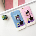 Sailormoon dedo stander case para iphone 6 s 6 plus 6 splus 6 tampa traseira macio cat adesivo shell tpu gel casos livre grátis