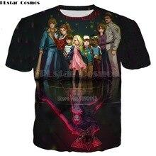 YX GIRL Plakatas animacinių filmų kūrėjas Stranger Things Spausdinti 3D marškinėliai Vyrai / moteriškos mados gatvės Drabužių viršūnių dydis S-5XL