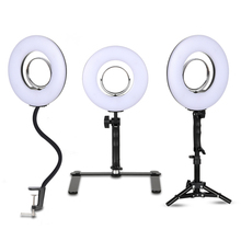 8 Inch Ring Light Dimmable Tabletop Photography Light 24W 5500K Makeup Lamp Photo Studio Photography for Phone Video Live Gift