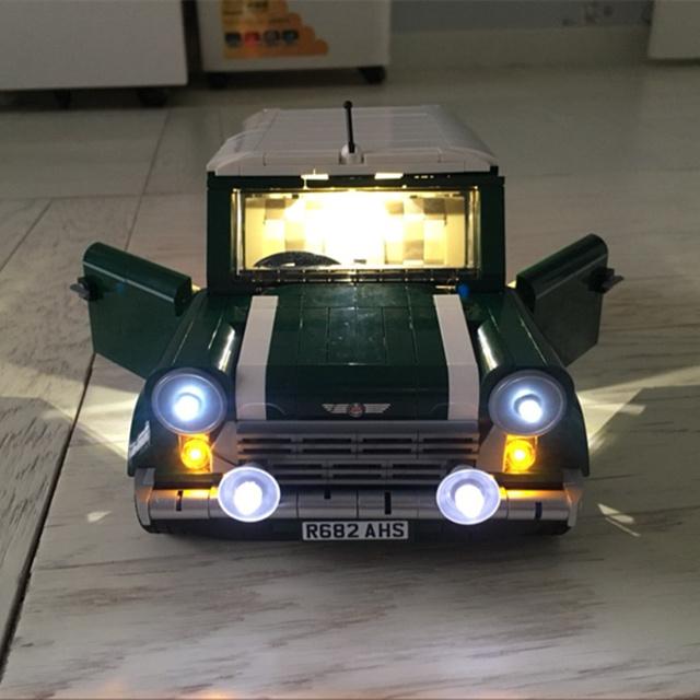 Led kit de luz corriente para creador mini cooper 10242 compatible con lego bloques de construcción ladrillos lepin 21002