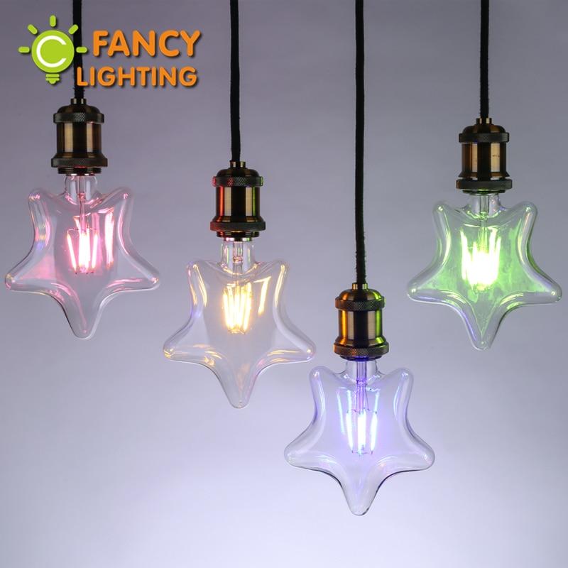 Led lamp E27 Star decorative led light bulb 220V Red/Yellow/Blue/Green led ampul for home/living room/bedroom/celebration decor