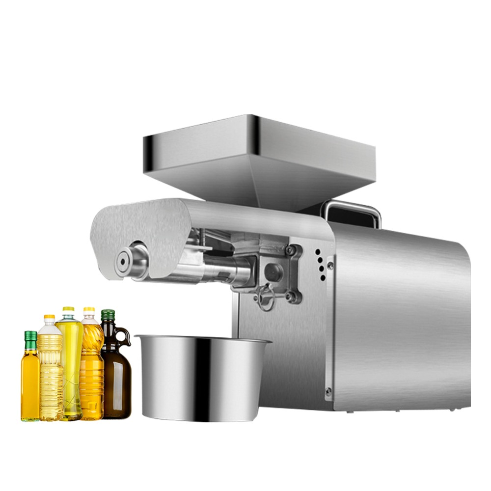 Manual For Business Equipment Oil Press Machine Cocoa Beans Household Pressure Grapes Appliances Extraction Peanut Production