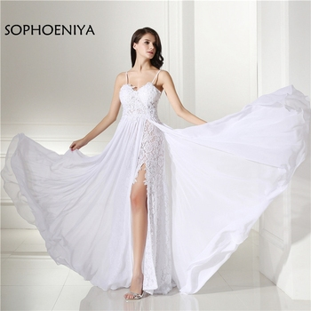 31ca435e39 Moda Sexy vestido de boda de playa 2019 Spaghetti correa sin espalda vestido  de novia vestidos de boda Vestido novia vestido branco