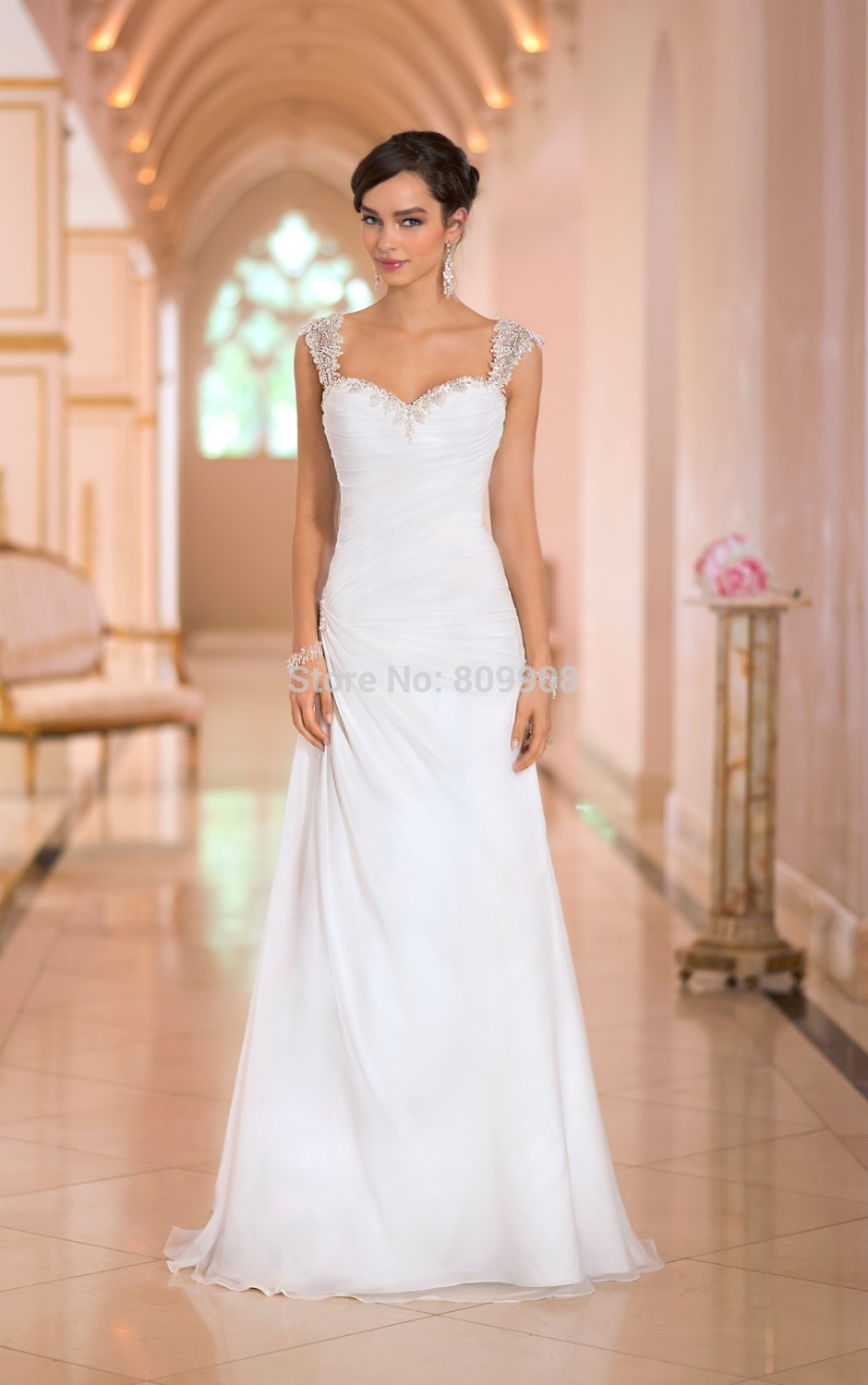 Beach wedding dresses ruffles sweetheart neckline applique beaded beach wedding dresses ruffles sweetheart neckline applique beaded straps backless chiffon a line 6363mia aniaia junglespirit Choice Image