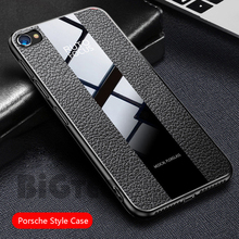 For vivo Y81 Luxury Porsche Style PU Leather Phone Protective Case for V7 Plus V9 Youth Y93 Y95 Y91C Y91i Back Cover Glass