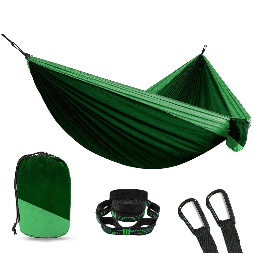 Hammocks Reasonable 12 Color Nylon Parachute Camping Hammock Survival Garden Swing Leisure Travel Portable Outdoor Furniture Hanging Sleeping Bed