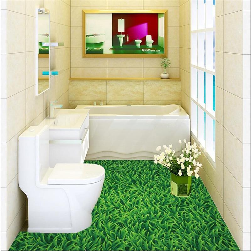 Buy Modern Floor Painting Hd Green Meadow Landscape Waterproof Bathroom Kitchen