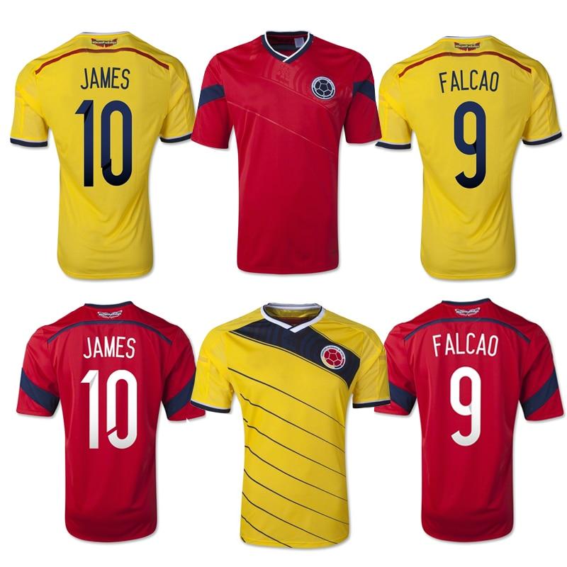 20dde5fdb0d ... Aliexpress.com Buy A+++ 2014 World cup Colombia FALCAO James soccer  jersey Original thailand quality ...