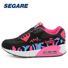 Breathable Leather Athletic Sneakers Women Trainer Sport Shoe Height Increasing Air Cushioning Running Shoes For Women