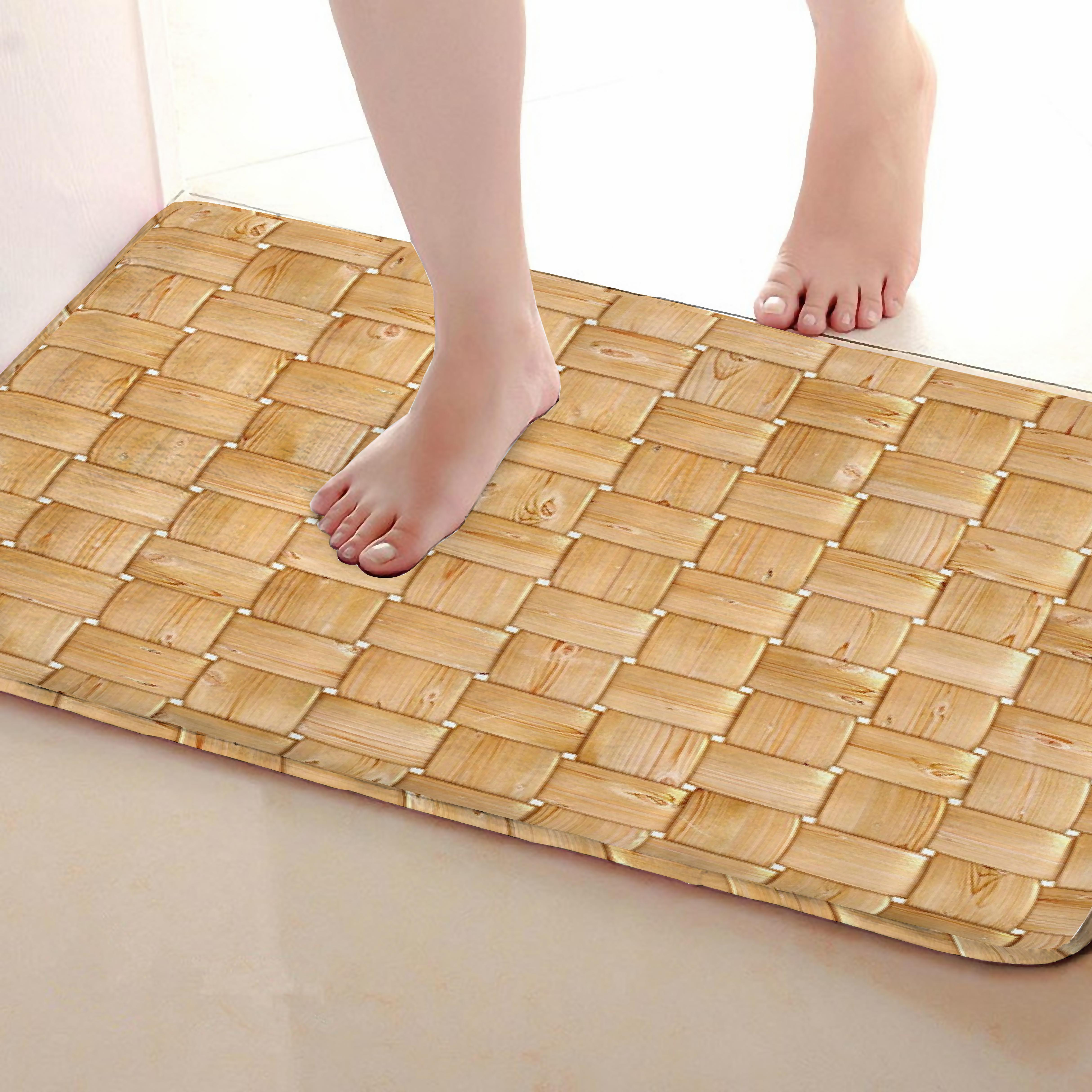 Braid Style Bathroom Mat,Funny Anti skid Bath Mat,Shower Curtains Accessories,Matching Your Shower Curtain