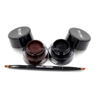Gel Eyeliner Cushion Eye Liner Gel Long Wear Black Brown With Brush 12pcs 2color Soft Smooth